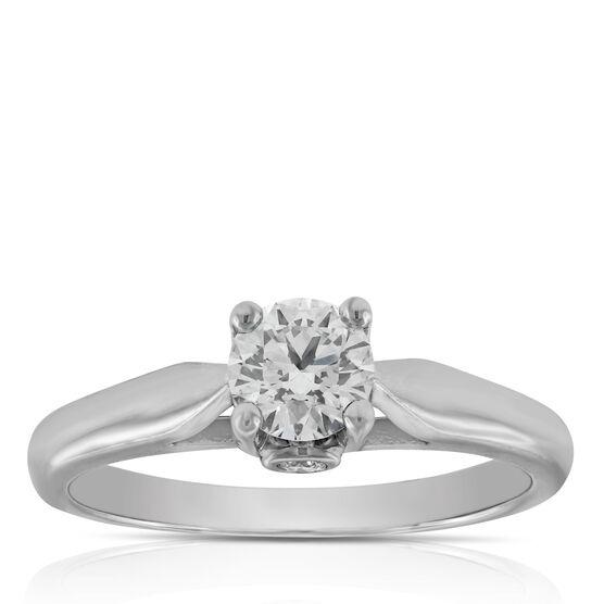 Ideal Cut Ikuma Canadian Diamond Solitaire Ring 14K, 1/2 ct.