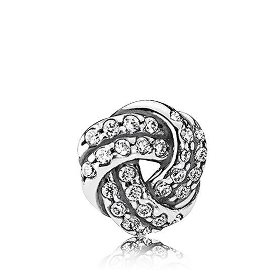 PANDORA Petite Element Love Knot CZ Charm