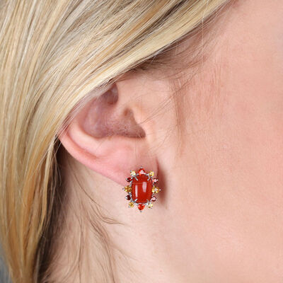 Lisa Bridge Carnelian Gemstone Earrings