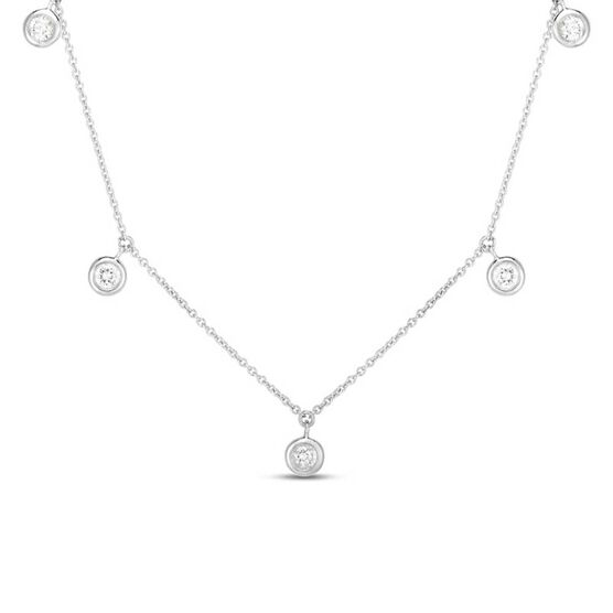 Roberto Coin Diamonds by the Inch 5-Station Diamond Necklace 18K