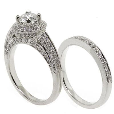 Ben Bridge Signature Diamond™ Bridal Set in Platinum