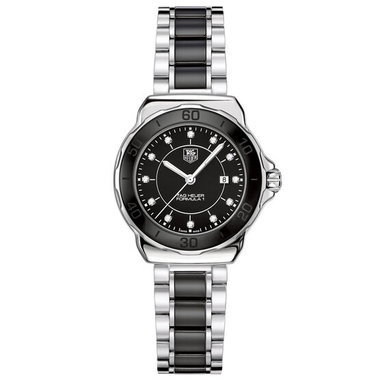 TAG Heuer Formula 1 Quartz Black Ceramic Diamond Watch, 32mm