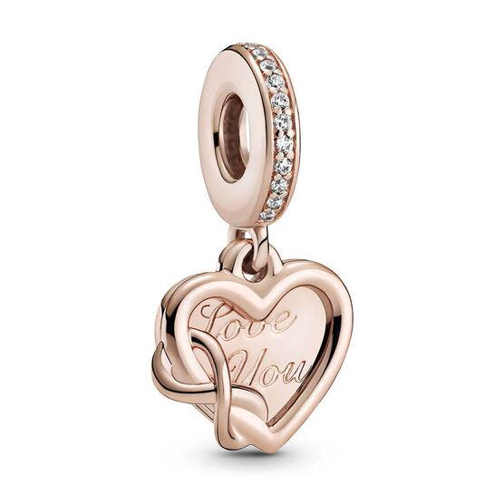 Pandora Rose™ Love You Infinity Heart Dangle Charm