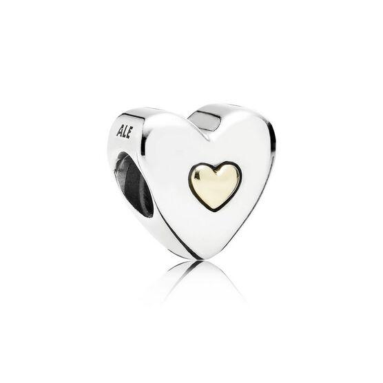 PANDORA Happy Anniversary Heart Charm, 14K & Silver