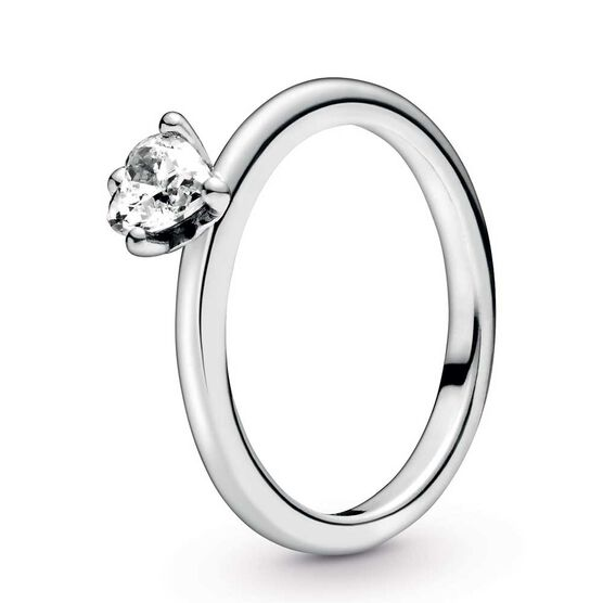 Pandora Clear Heart Solitaire CZ Ring