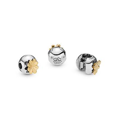 PANDORA Shining Clover CZ Clip, Silver & Pandora Shine™