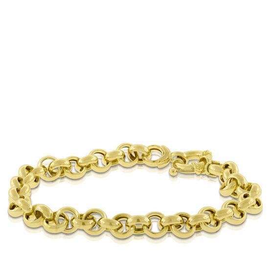 "Toscano Rolo Chain Bracelet 14K, 7.5"""
