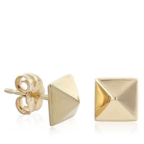 Pyramid Stud Earrings 14K