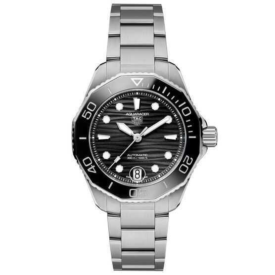 TAG Heuer Aquaracer Professional 300 Black Steel Watch, 36mm