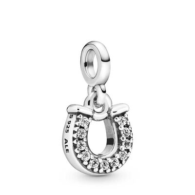 Pandora Me My Lucky Horseshoe CZ Dangle Charm