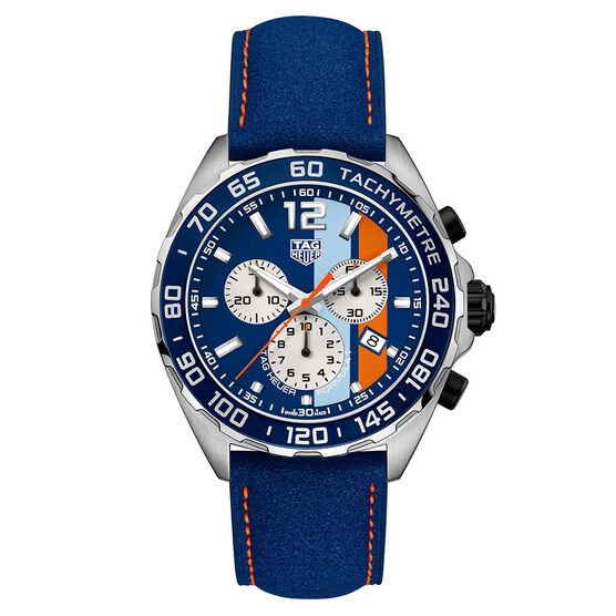 TAG Heuer Formula 1 Chronograph - Blue Golf Special Edition Watch 43mm