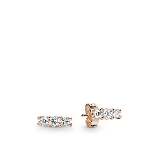 Pandora Earrings Nz: PANDORA Rose™ Sparkling Elegance CZ Earrings