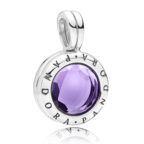 Pandora Faceted Floating Locket, Synthetic Amethyst