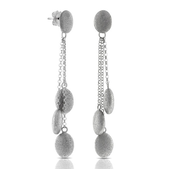 Pebble Drop Earrings in Sterling Silver