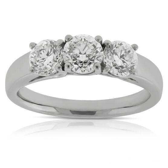 Diamond 3-Stone Band 14K, 1.5 ctw.
