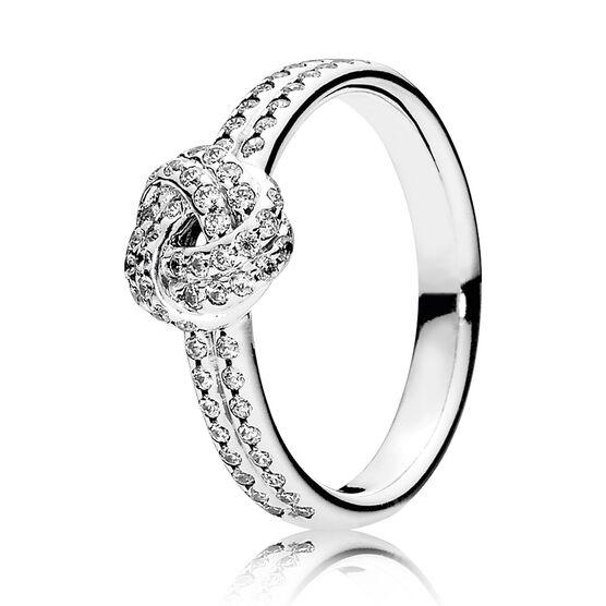 PANDORA Sparkling Love CZ Knot Ring