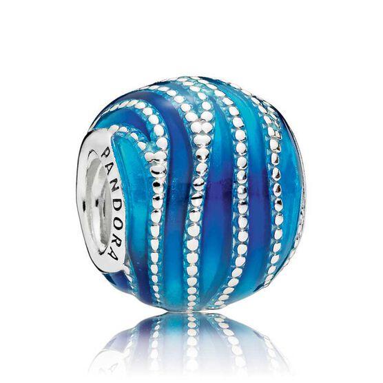 Pandora Blue Swirls Enamel Charm