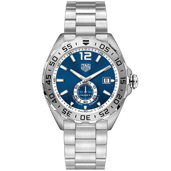 TAG Heuer Formula 1 Calibre 6 Automatic Mens Blue Steel Chronograph Watch