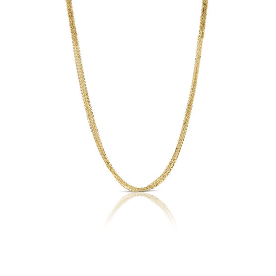Toscano Multi-Strand Section Necklace 14K