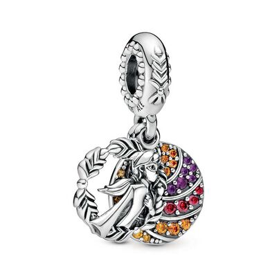 Pandora Disney, Frozen Anna Dangle Enamel & CZ Charm