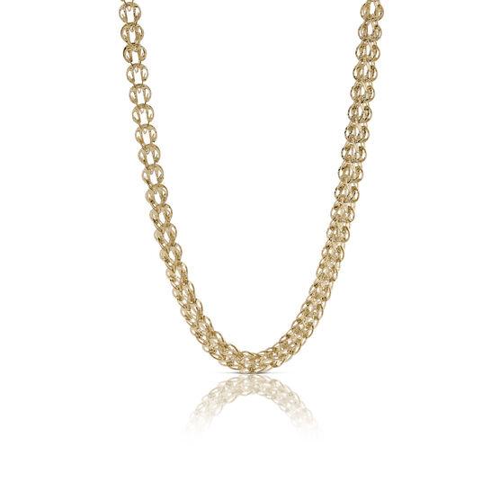 Toscano Soft Round Link Necklace 14K