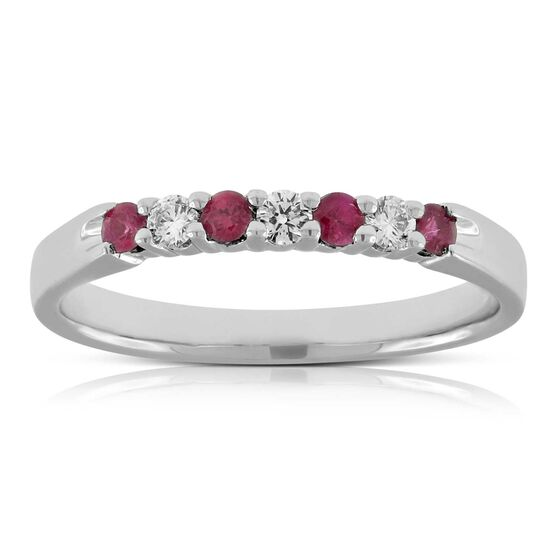 Ruby & Diamond Band 14K
