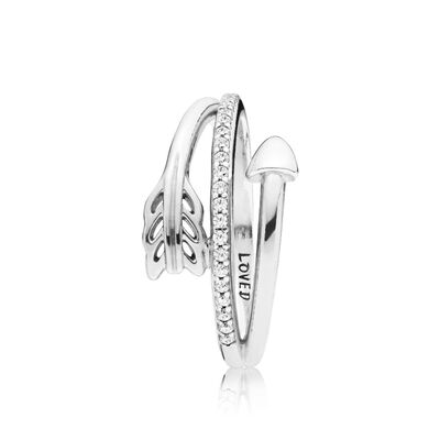 PANDORA Sparkling Arrow CZ Ring