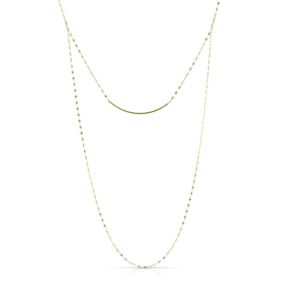 Bar Necklace Mariner Chain 14K