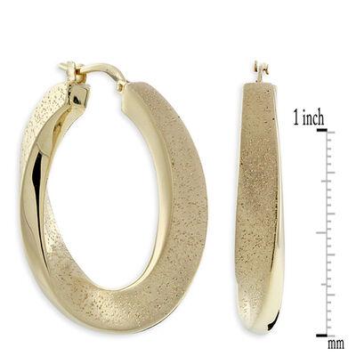 Twisted Hoop Earrings, 18K over Sterling Silver