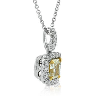 Yellow Diamond Pendant 18K
