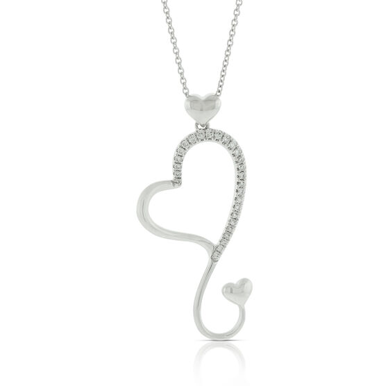 Heart Diamond Pendant 14K