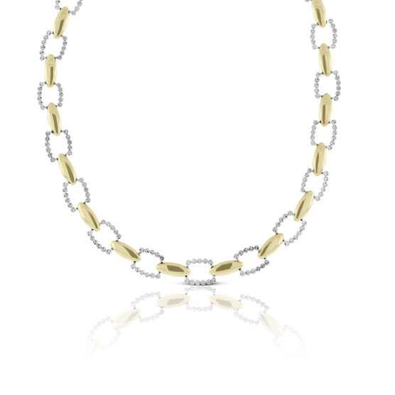 Toscano Diamond Cut Cushion Link Chain 14K