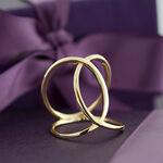 Interlocking Loop Ring 14K, Size 7