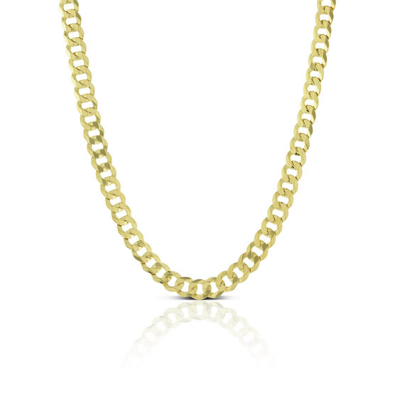 Toscano Flat Solid Curb Chain 14K, 24""