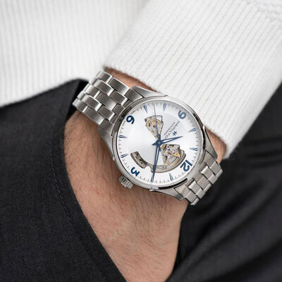Hamilton Jazzmaster Open Heart steel Automatic Watch, 42mm