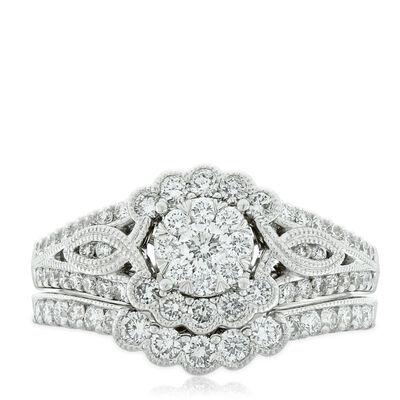 Love Eternal Diamond Bridal Set 14K