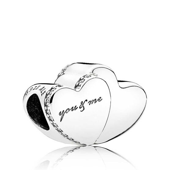Pandora Two Hearts CZ Charm