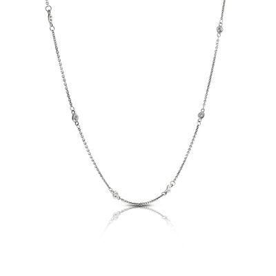 Diamond Station Necklace 14K, 1/3 ctw.