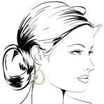 Toscano Open Drop Earrings 14K