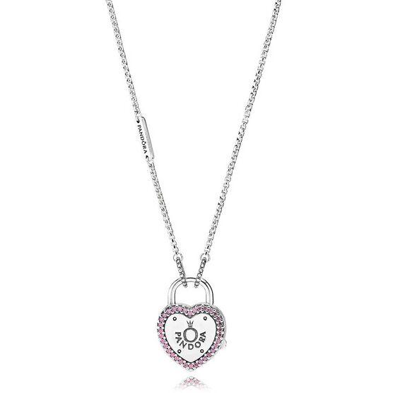 PANDORA Lock Your Promise CZ Necklace