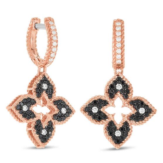 Roberto Coin Petite Venetian Princess Diamond Flower Earrings 18K