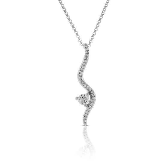 Ikuma Canadian Diamond Curved Bale Pendant 14K