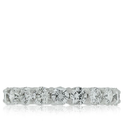 Diamond Eternity Band in Platinum, Size 6.5