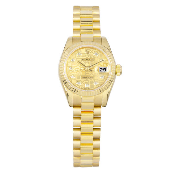 Pre-Owned Rolex Oyster Perpetual Lady-Datejust Watch, 26mm, 18K