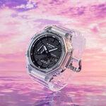 G-Shock Transparent Octagon Bezel Analog Digital Watch, 48.5mm