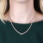 "Graduated ""V"" Riviera Diamond Necklace 14K"