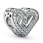 Pandora Sparkling Freehand CZ Heart Charm