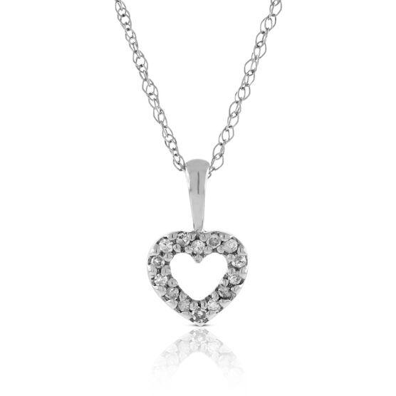 Baby Diamond Heart Necklace 14K