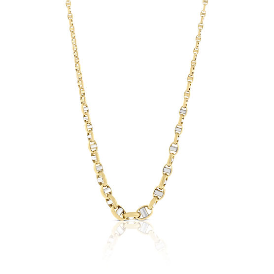 """Toscano Graduated Anchor Link Chain 14K, 18"""""""