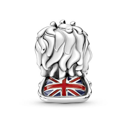 Pandora Places Wavy Union Jack Lion Enamel Charm